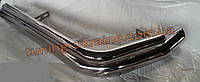Защита заднего бампера уголки двойные из нержавейки на Volkswagen T5 2010