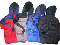 Куртка зимняя для мальчика, Glostory, размеры 116/122 арт. ВМА  2735