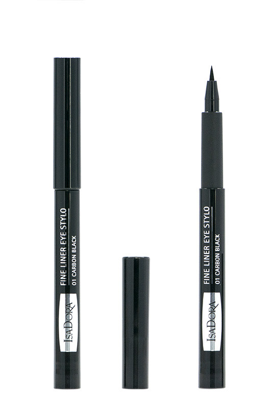 IsaDora Fine Liner Eye Stylo Подводка фломастер для век 01 carbon black 1 мл Код 12231