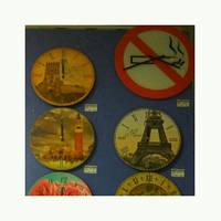 """Годинник настінний No Smoking"""" d=43см, скляні (8060)"""""""