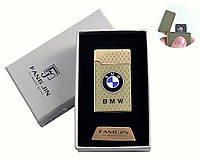 """Спиральная USB зажигалка """"BMW"""" №4798A-2, двухсторонняя спираль, стильный и практичный девайс, идея подарка"""