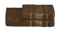 Полотенце бамбуковое 50х90 Gursan Bamboo коричневый