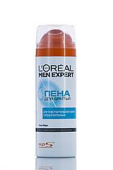 Loreal Men Expert  Пена Для бритья  Чувствительная кожа для мужчин 200 мл Код 1681