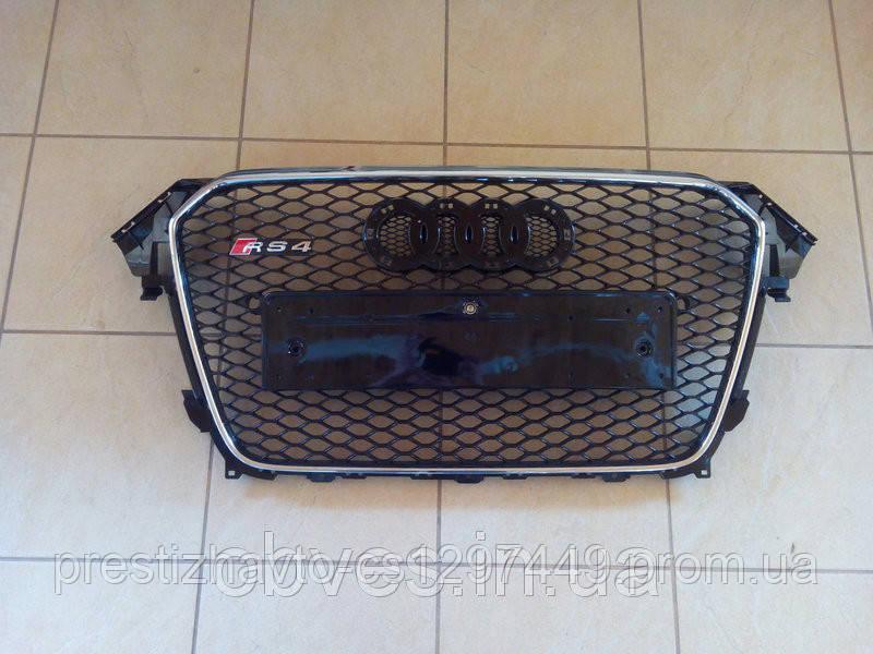 Решетка радиатора на Audi A4 (2012-...) модельного года в стиле RS4