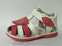 Детские кожаные босоножки (сандалии) B&G для девочек розовые, фото 1