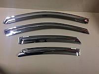 Дефлекторы окон хром (ветровики) Hyundai Elantra HD