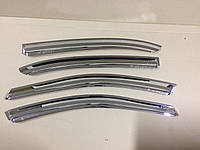 Дефлекторы окон хром (ветровики) Chevrolet Evanda