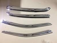 Дефлекторы окон хром (ветровики) Hyundai Getz