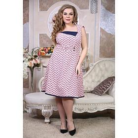 Женское летнее платье больших размеров Джорджия размер 56