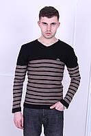 Мужской свитшот в стиле Lacoste черного цвета