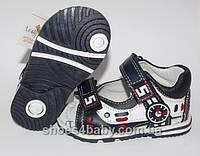 Детские босоножки (сандалии) B&G для мальчика синие с белым, фото 1