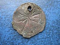 Ладанка с крестом очень старая копанная олово?