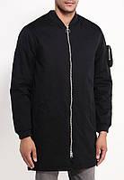 Куртка бомбер Bellfield - Vela черного цвета удлиненная мужская (чоловіча)