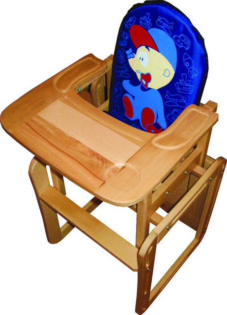 """Деревянный стульчик для кормления """"Мальчик"""" для мальчика"""