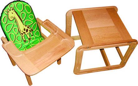 """Деревянный стульчик для кормления """"ЖИРАФА"""", фото 2"""