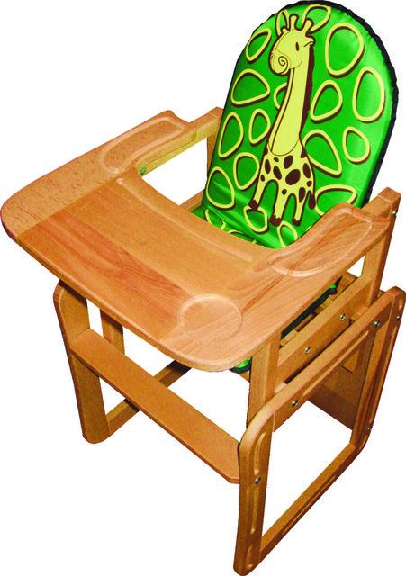 """Деревянный стульчик для кормления """"ЖИРАФА"""""""