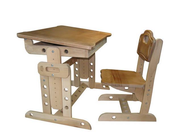 """Детский деревянный стол """"Парта Совенок"""", фото 2"""