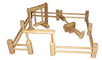 Деревянный набор констуктор  для  детей Детская площадка