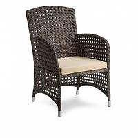Плетеное кресло из ротанга искусственного Poker коричневое 70x63x98 см