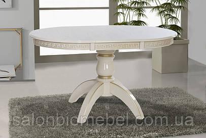 Стол обеденный круглый раскладной Престиж патина