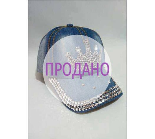 Джинсовая кепка «Корона»