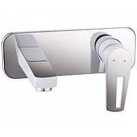 Смеситель для раковины скрытого монтажа Imprese Breclav VR-05245W, хром/белый