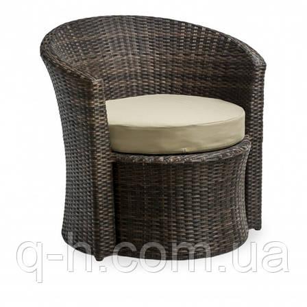 Кресло плетеное круглое из ротанга искуссвенного коричневое DISCO, фото 2