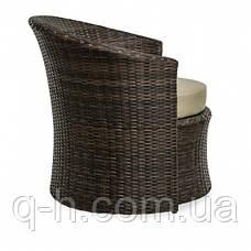 Кресло плетеное круглое из ротанга искуссвенного Диско (Disco-02), фото 3
