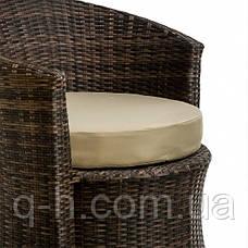 Кресло плетеное круглое из ротанга искуссвенного коричневое DISCO, фото 3
