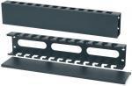 Организатор кабеля 2U для шкафа или стойки, металл