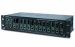 Медиаконвертерное шасси PLANET MC-1500R, 15-слотовое 19» (AC), резервное питание
