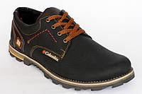 Демисезонные  кроссовки из кожи Columbia черного цвета