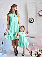 Платье мама - дочка. Взрослое и детское. Лето 2017