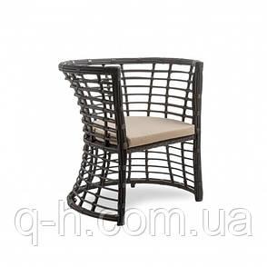 Плетеное кресло из ротанга искусственного Kailash коричневое, фото 2