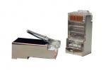 Коннектора RJ45 8P8C экранированные 50 mkm 5E категория, упаковка 100шт