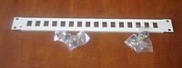 """Патч-панель 19"""" 16 модулей RJ45"""