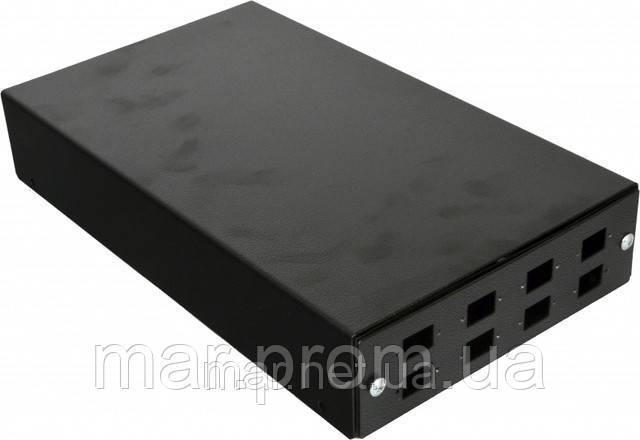 ВО коробка для ПО соединений (для 4-8 SC / FC) без лицевой панели, пустая, серая