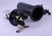 Муфта колпакового типа, 4 механических кабельных ввода, 4 сплайс-касcеты, 48 сплайс-протекторов