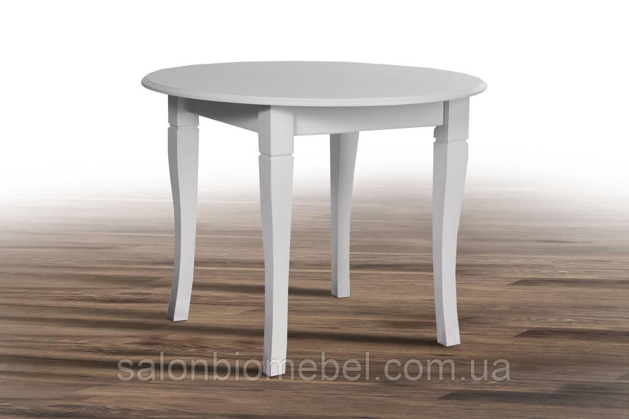 Стол обеденный круглый Остин белый не раскладной