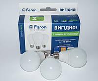 LED Набор светодиодных ламп Feron LB-710 10W Е27 4000К-3 штук