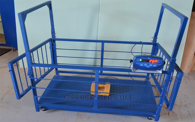 Весы для свиней и поросят TRIONYX  П0712-СК-1500 (700х1200 мм, НПВ=1500 кг, d=500 г)