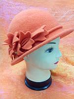 Шляпы RABIONEK из шерсти с цветком, оранжевая
