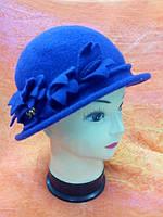 Шляпы RABIONEK из шерсти с цветком, фиолетовая