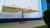 """Консольный улучшенный двухкупольный зонт для кафе """"Дабл Люкс"""" 6х4м."""
