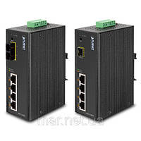Коммутатор PLANET ISW-514PSF IP30 4-Port/TP+1-Port Fiber(SFP) Web/Smart POE Industrial Switch