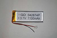 Универсальный аккумулятор (АКБ, батарея) для китайских телефонов 3.7V 1100mAh (0.4*28*74mm)
