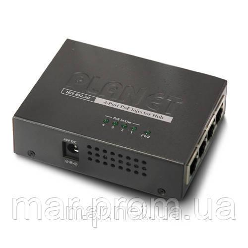 Инжектор PLANET POE-400 4-Port 802.3af Power over Ethernet Injector Hub