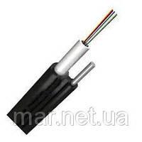 Оптоволоконный кабель,4 волокна одномодовые,  полиэтилен, самонесущий на стальной проволоке диам. 1,6 мм
