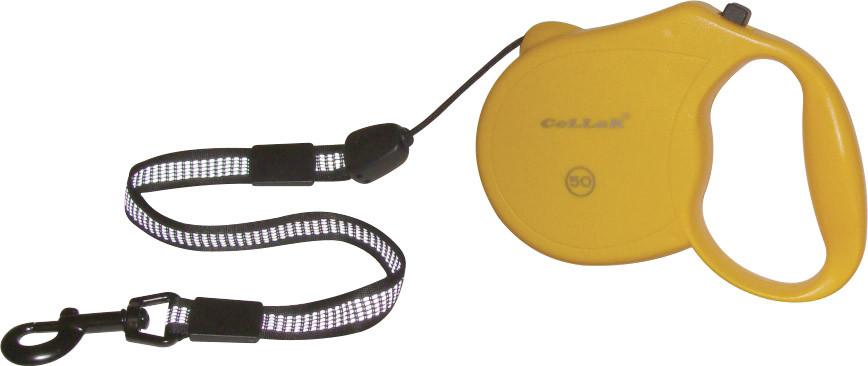 "Рулетка ""CoLLaR control"" 50 кг, 5м (светоотр.лента, трос)"