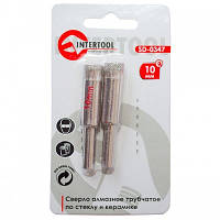 Коронка трубчатая по стеклу и керамике 10 мм (упаковка 2 шт) INTERTOOL SD-0347